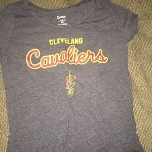 Maroon gray and gold Cleveland Cavaliers T-shirt